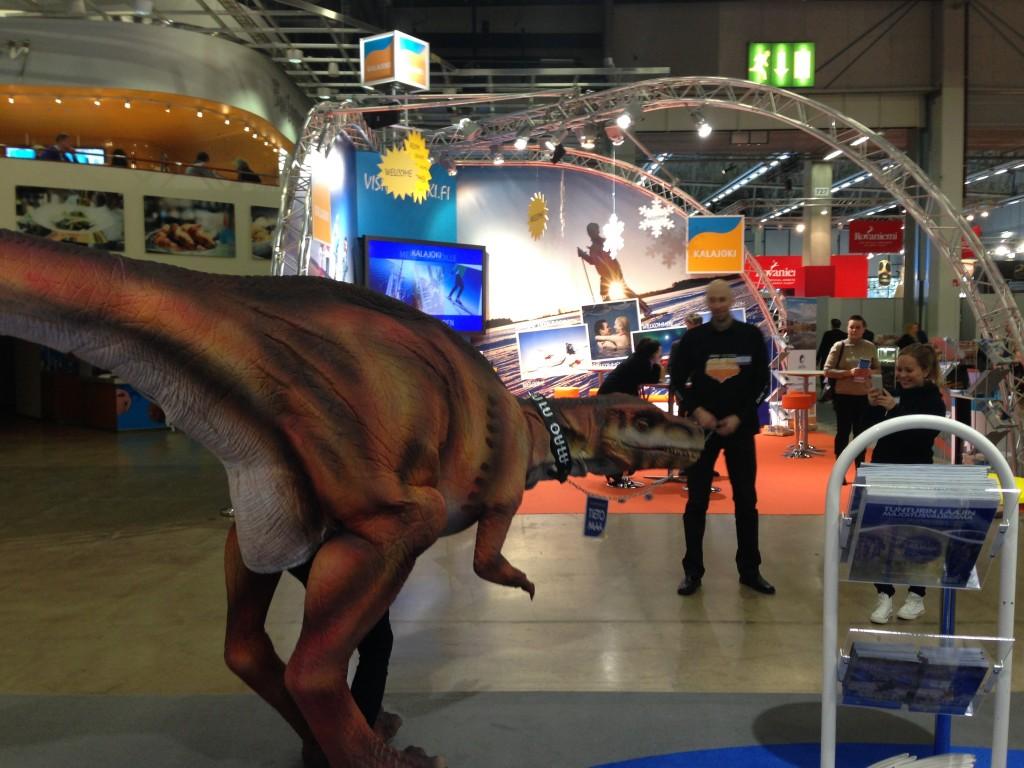 Dinosaurus Oulu Matkamessut 2014 Tarinakone